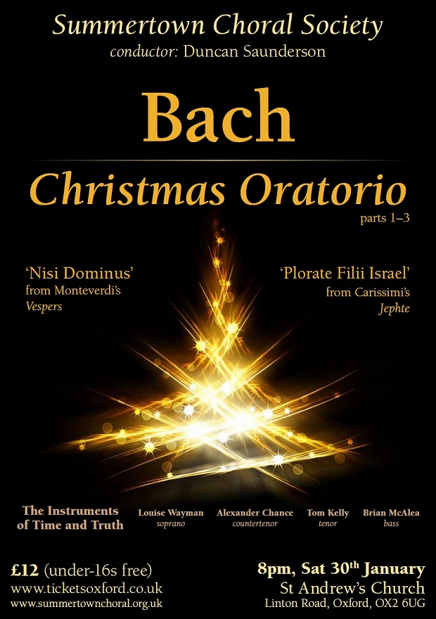 Christmas Oratorio by J.S. Bach Poster