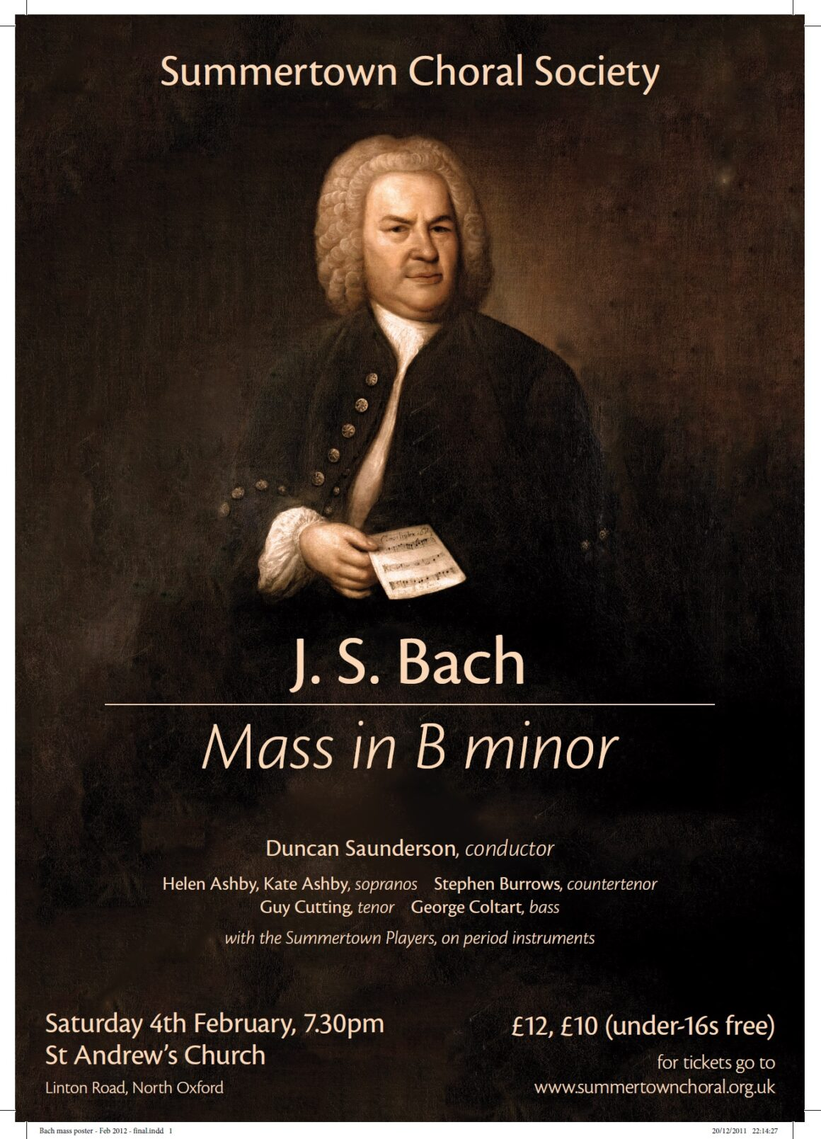 Bach's Mass in B Minor Poster