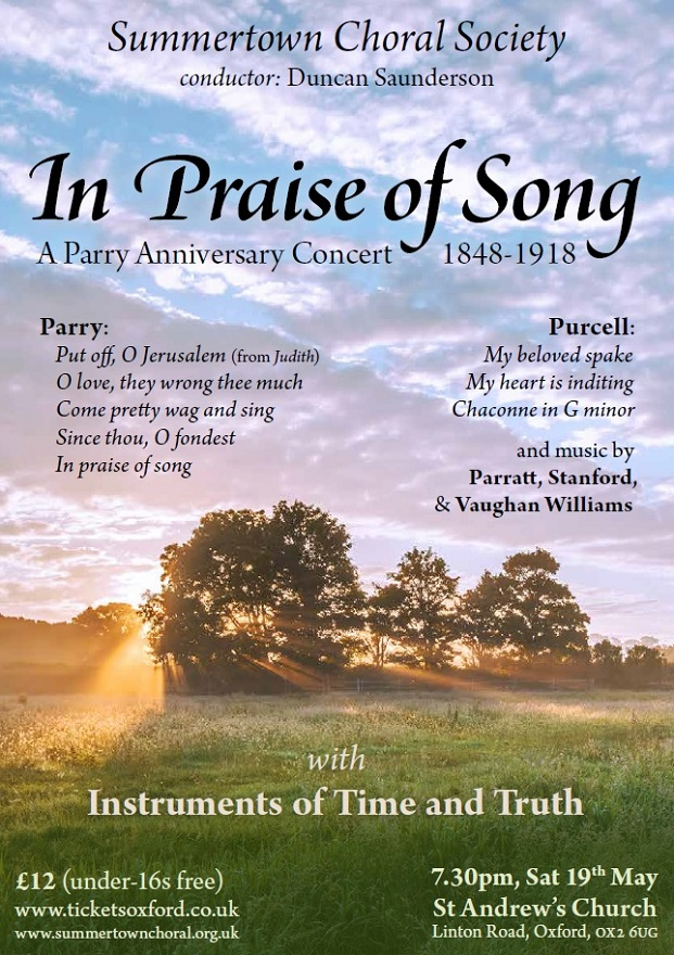 In Praise of Song Poster